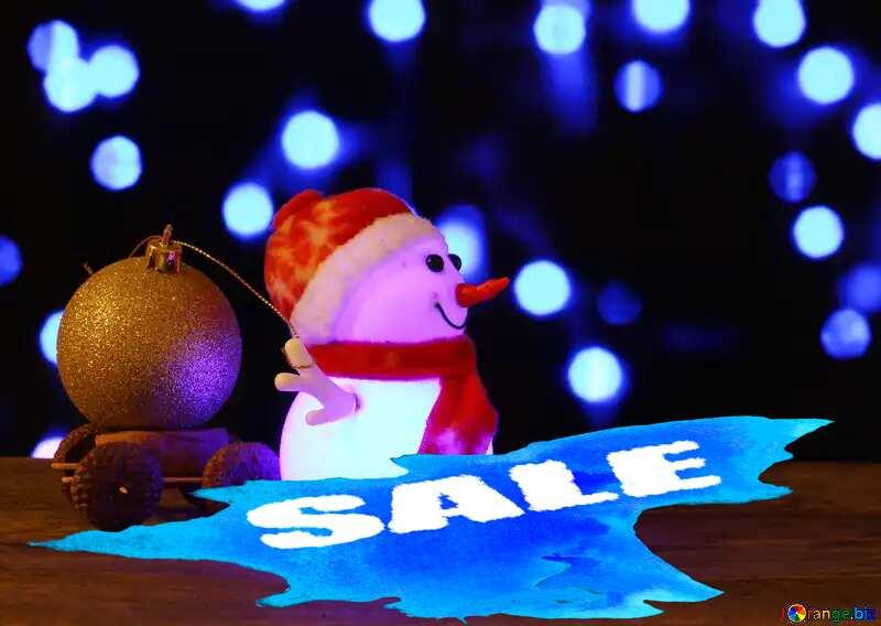 Christmas Snowman winter sale banner template design №48112