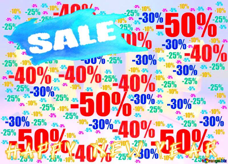 Store discount background. snowy sale text №51545