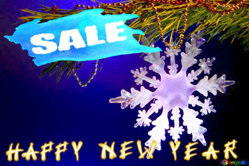 happy New year Winter sale snowflake  banner template №2393