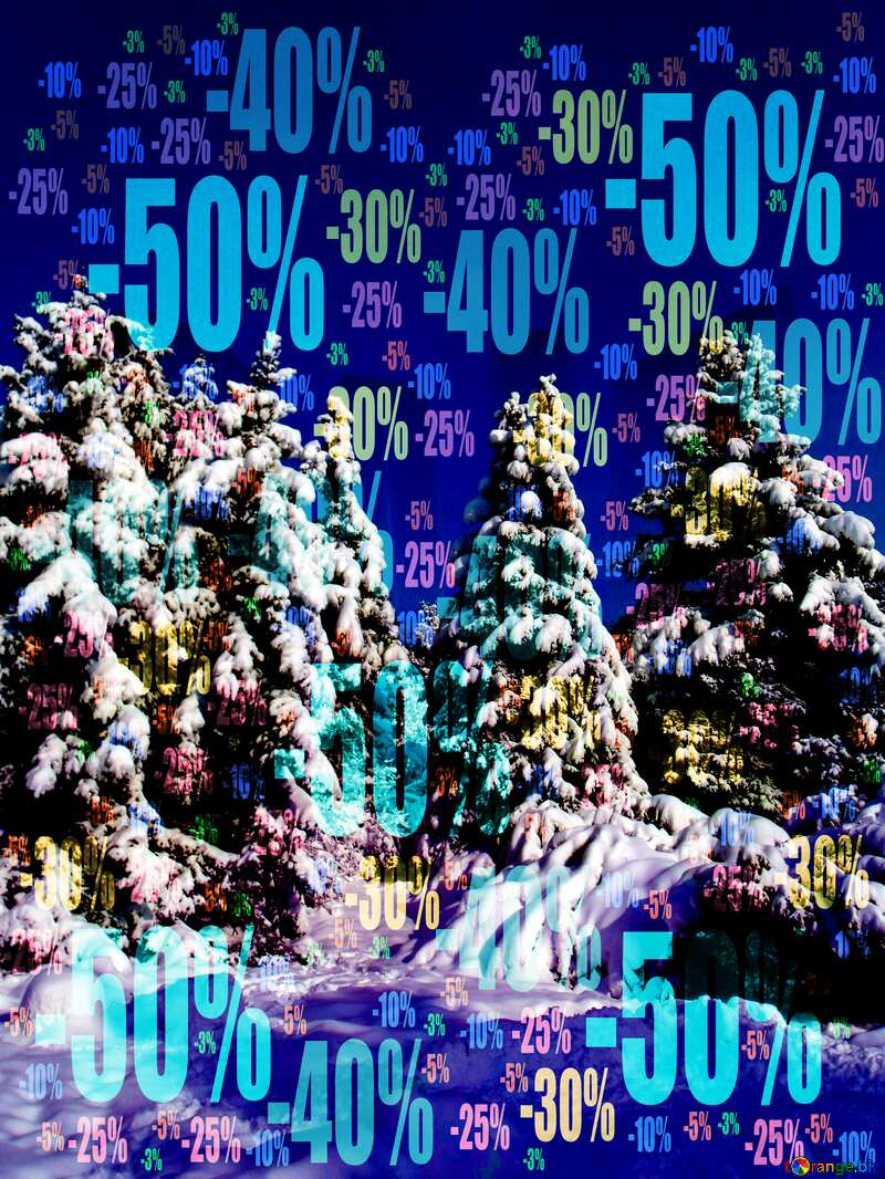 Winter Sale Snow forest Tree №10576