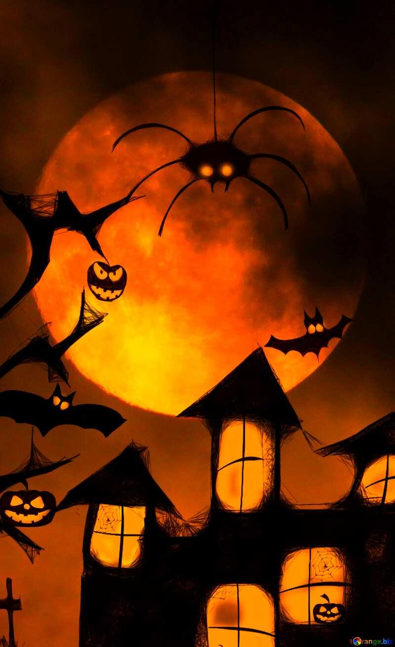 Halloween vertical poster backdrop №40470