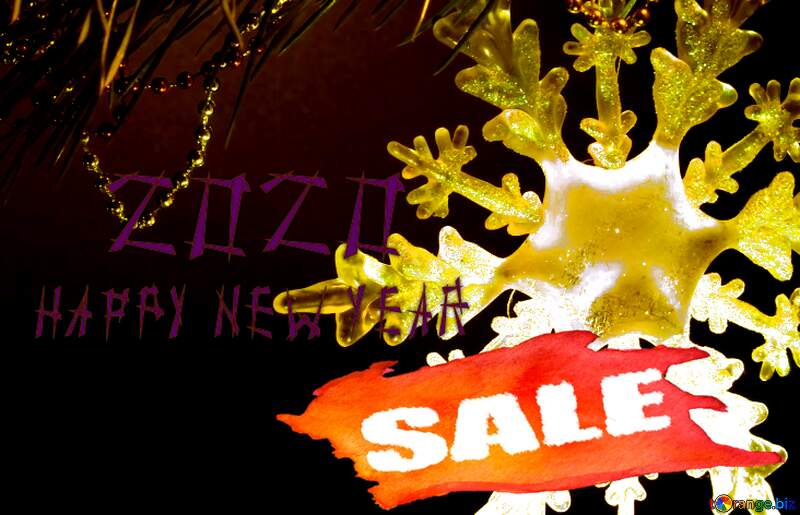 2019 Winter sale snowflake  banner template №2393