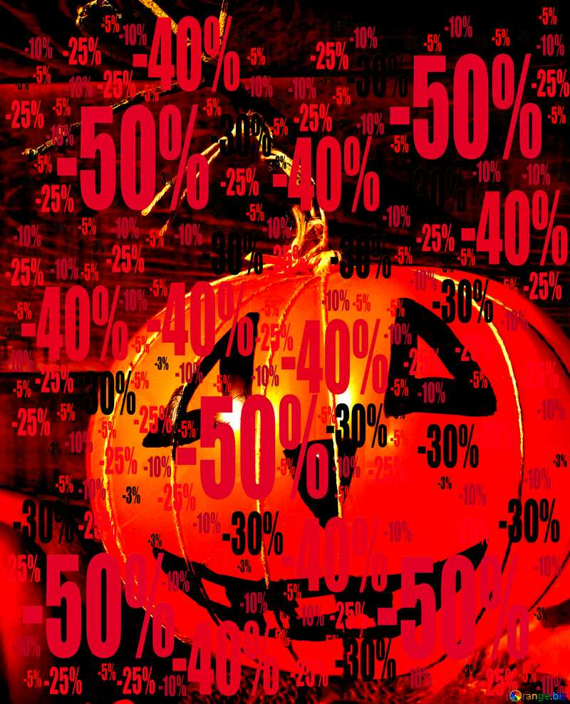 Sale offer discount template Halloween Background Pumpkin №35403