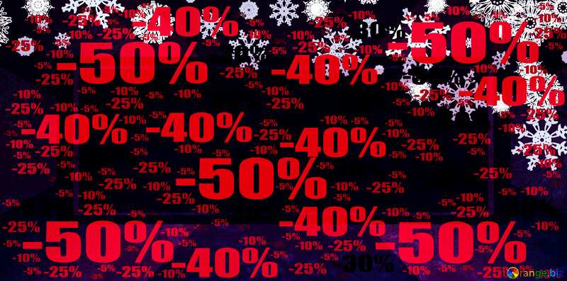 Sale offer discount template Dark Christmas Banner Background №40659