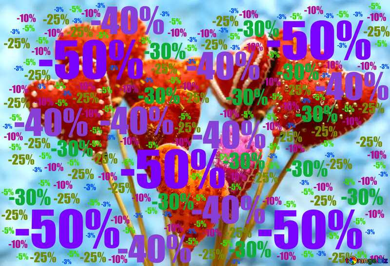 Sale offer discount template Valentine`s Day Hearts Card №49196