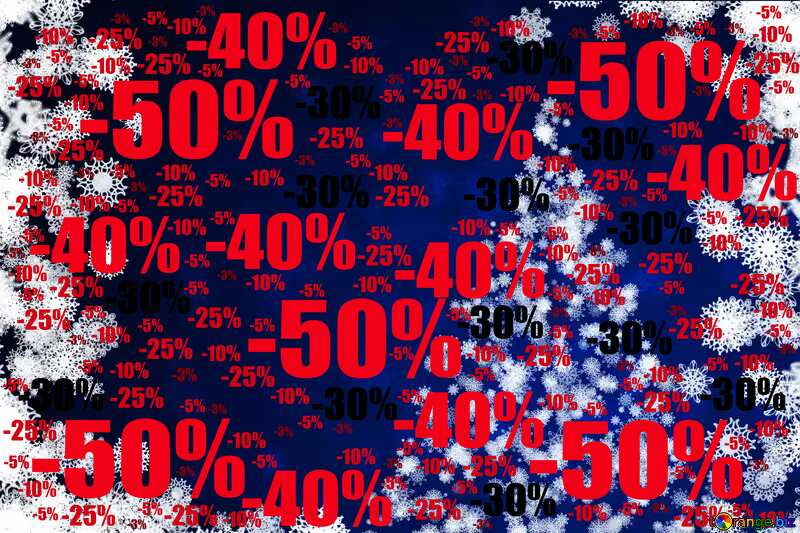 Christmas background Sale offer discount template №40729