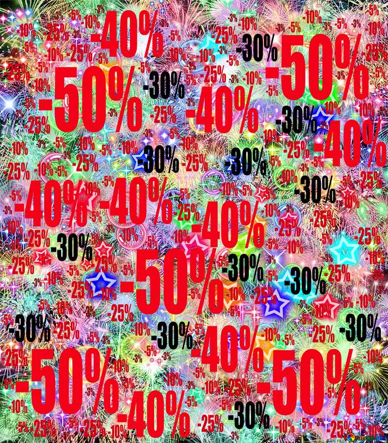 Celebratory bright background Sale offer discount template №39955