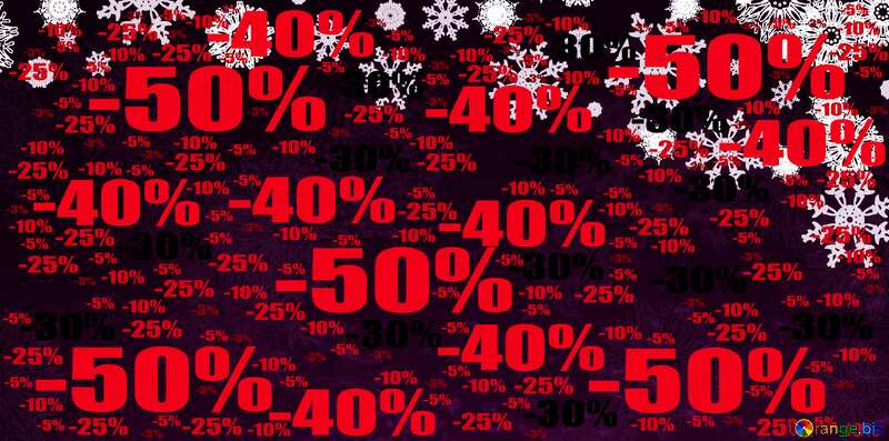 Dark Christmas background Sale offer discount template Red №40659
