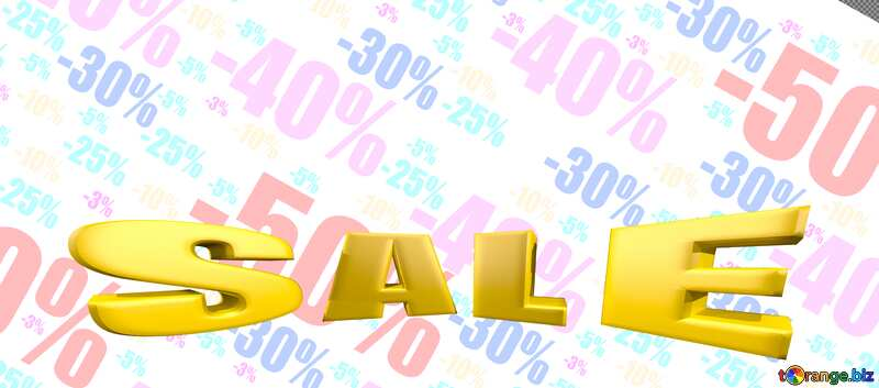 Shop discount background. Sales discount promotion sale made of realistic 3d Gold letters collection for your unique selling poster, banner, discount, ads. №51545