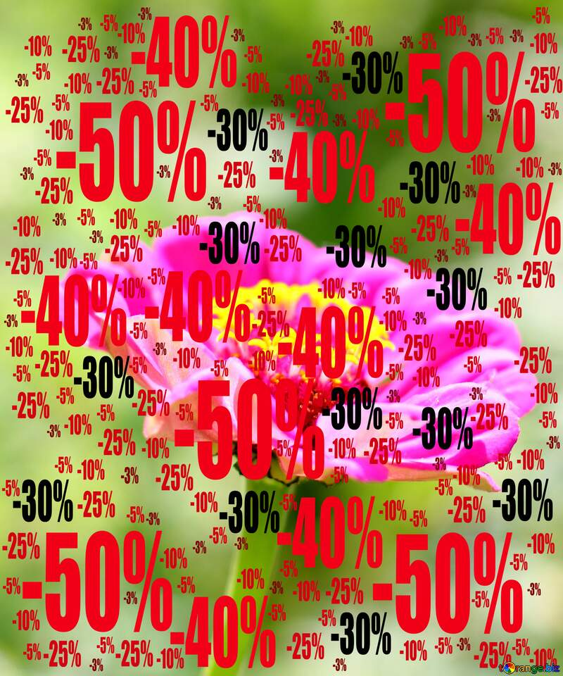 Sale offer discount template Flower Background №33439
