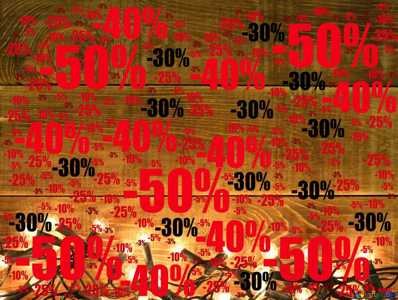 Christmas backdrop for Board announcements Sale offer discount template №37898