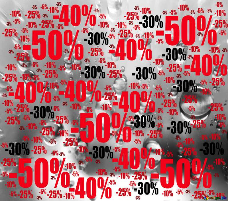 Raindrops love red heart background Sale offer discount template №47981