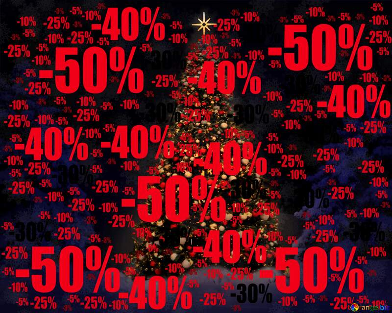 christmas tree dark modular background Sale offer discount template №40739