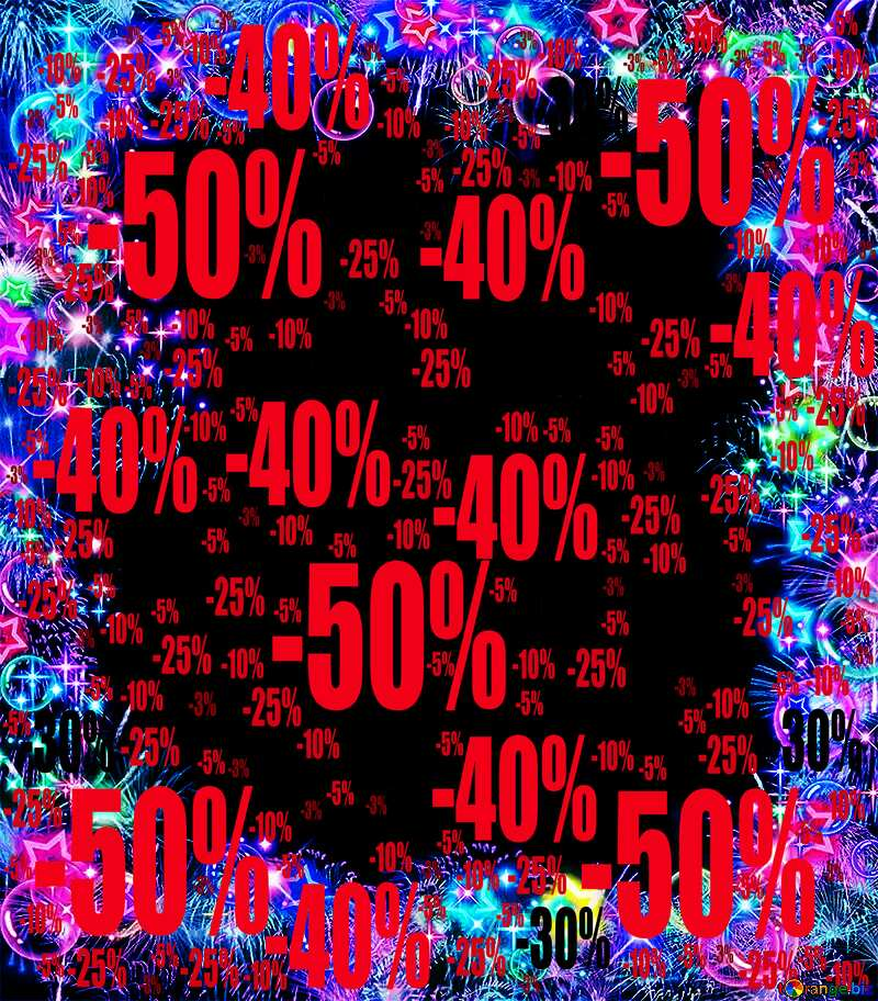 Frame multi-colored love background frame Sale offer discount template №39964