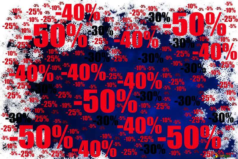 New year background with snowflakes Sale offer discount template №40728