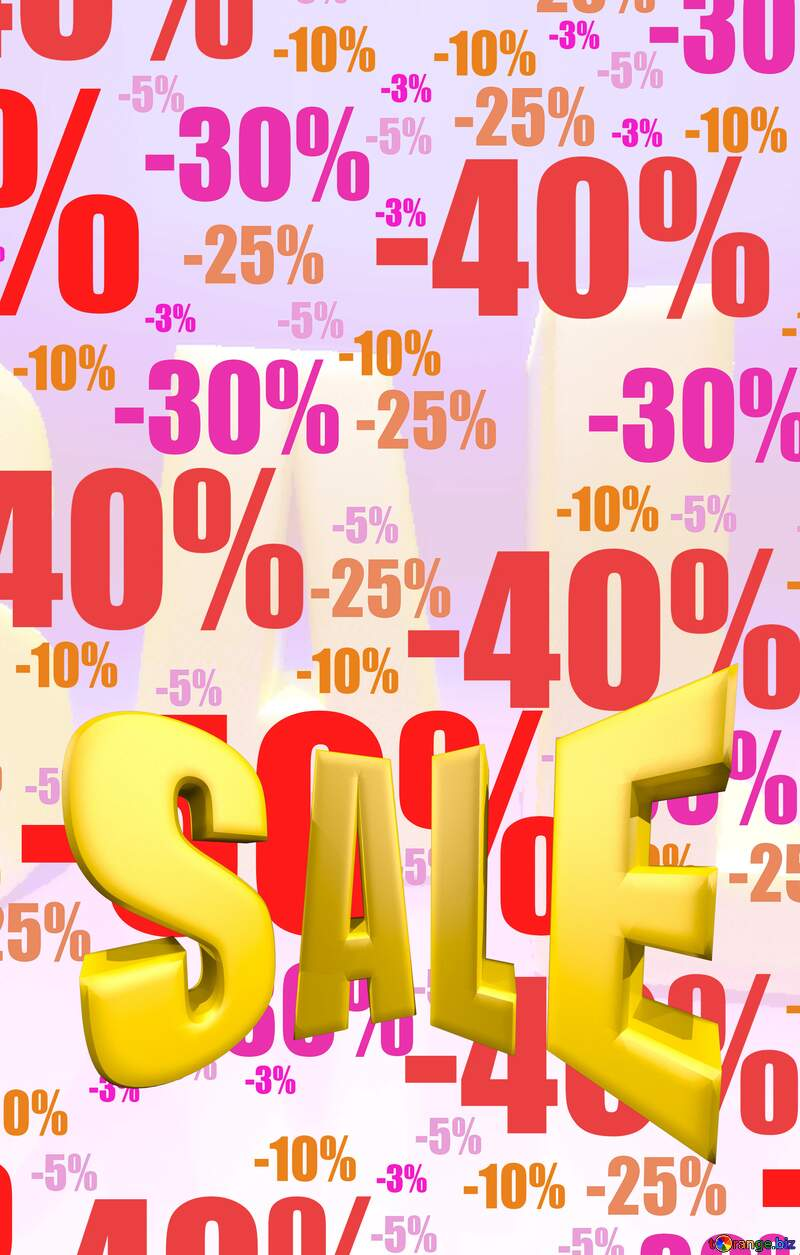 Store discount background. Autumn sales promotion banner Sales discount promotion sale made of realistic 3d Gold letters collection for your unique selling poster, banner, discount, ads. №51545
