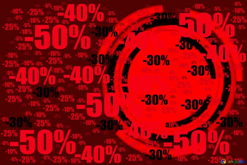 Infographics circle frame Red Card Background Sale offer discount template №49680