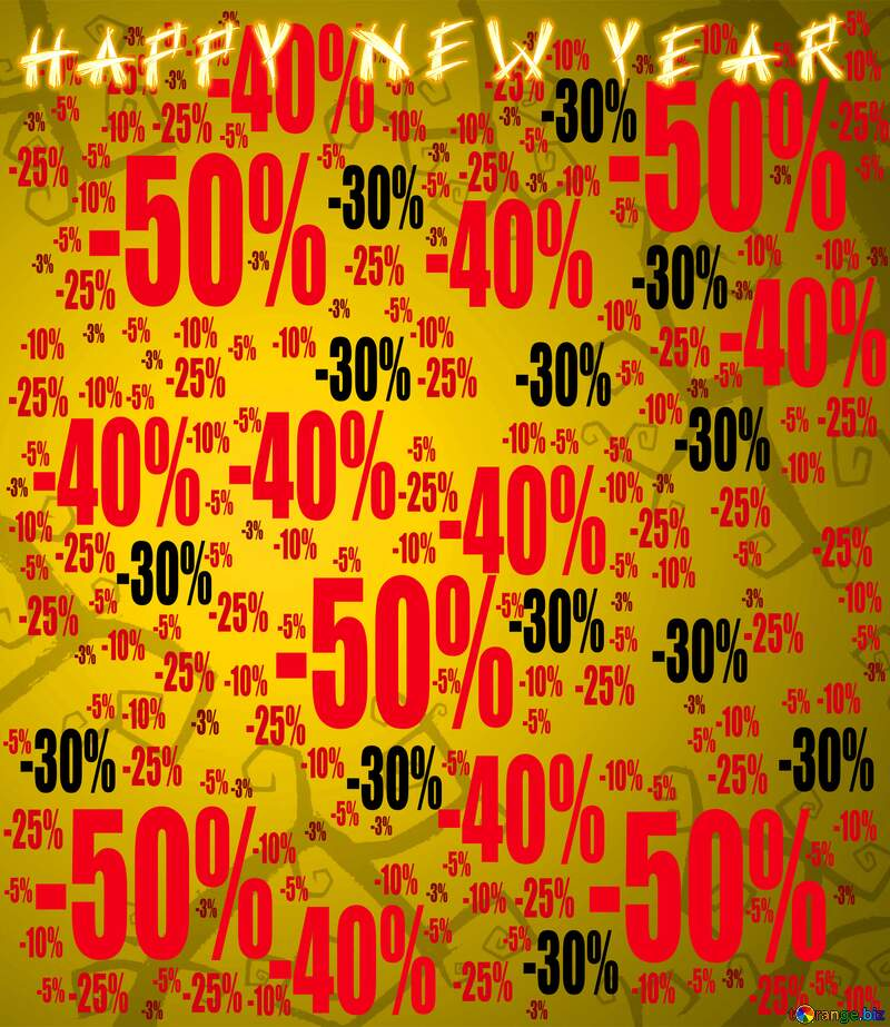 Happy New Year Halloween style background Sale offer discount template №40593