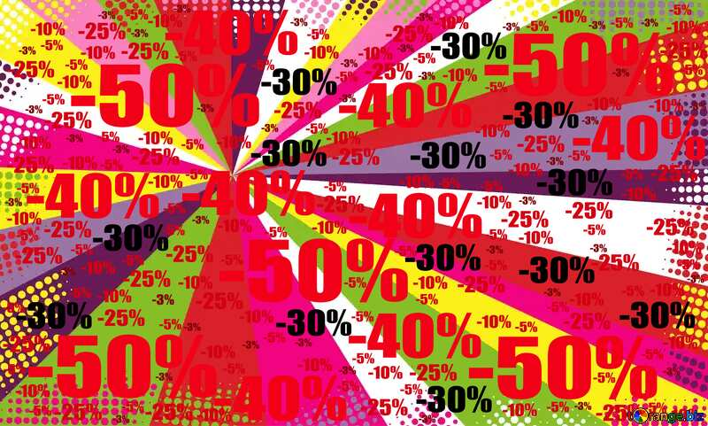 Colors rays Red Digital technology background Sale offer discount template №49661