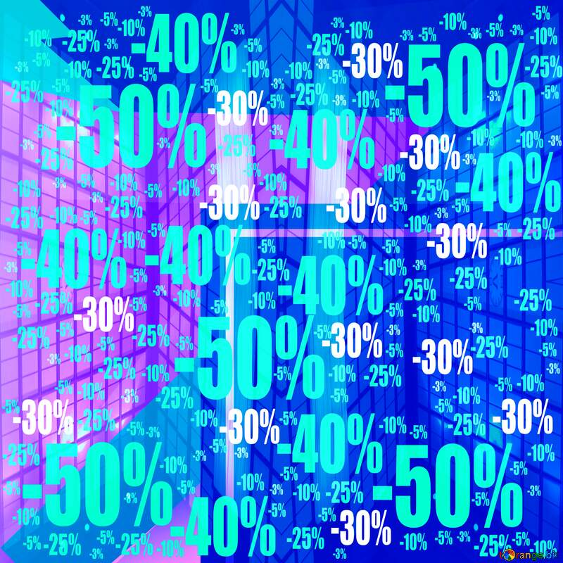 Geometric square backdrop blue Blank Frame Sale offer discount template №49675