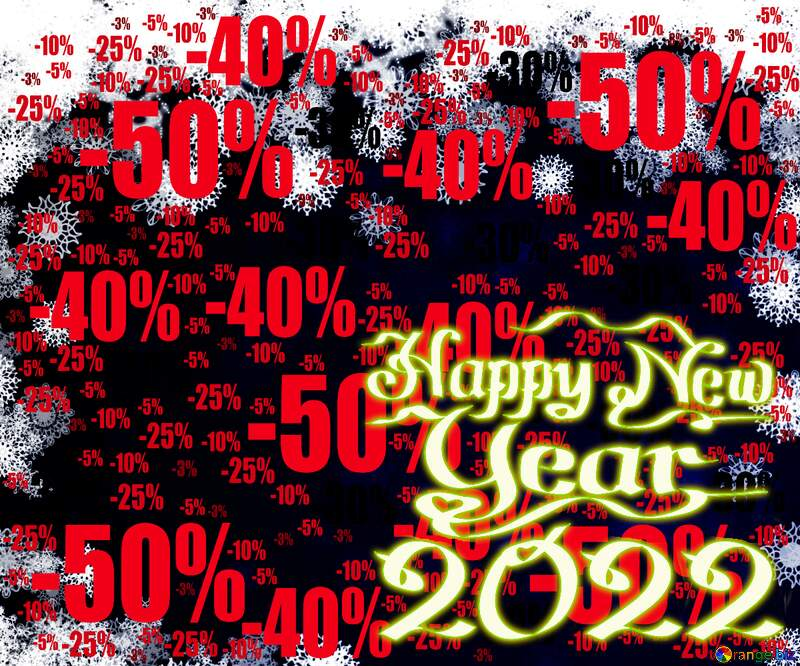 New year 2021 blue background with snowflakes Sale offer discount template №40728