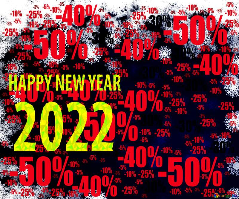 New year 2022 background with snowflakes Sale offer discount template №40728
