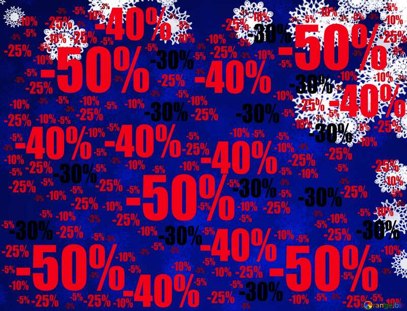 Blue background Christmas and new year Sale offer discount template №40710