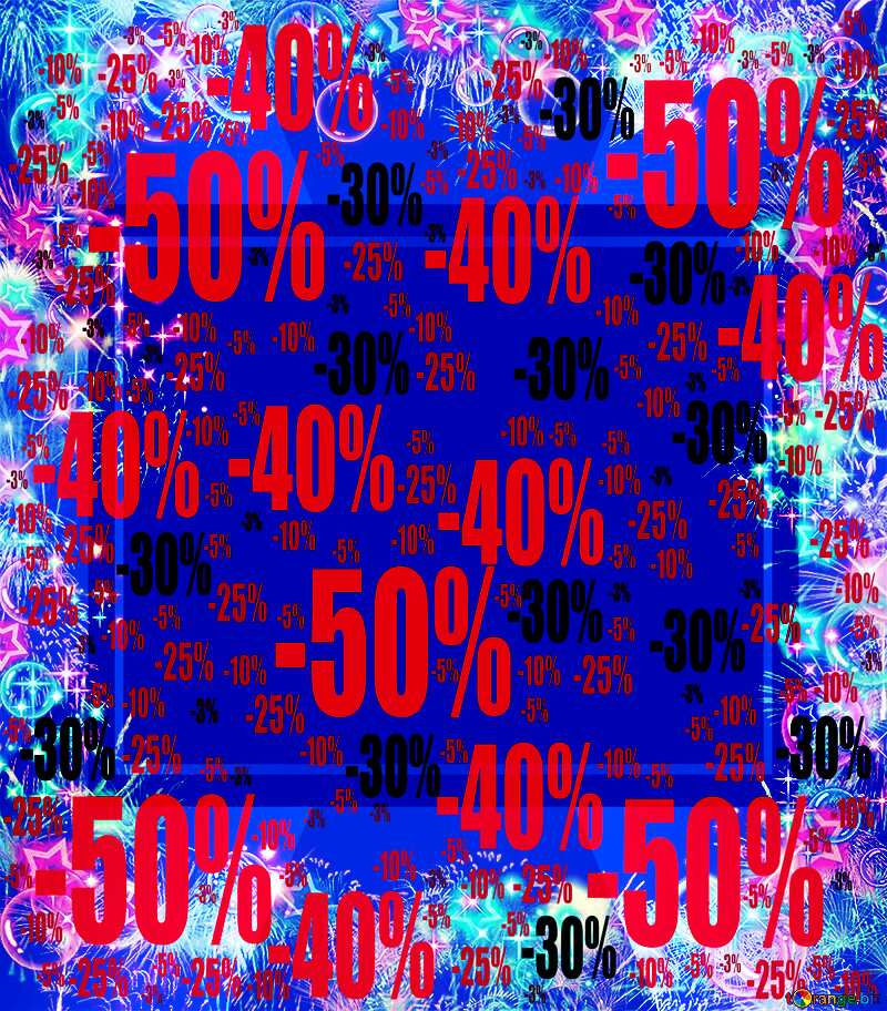 Frame multi-colored Sale offer discount template Background №39964