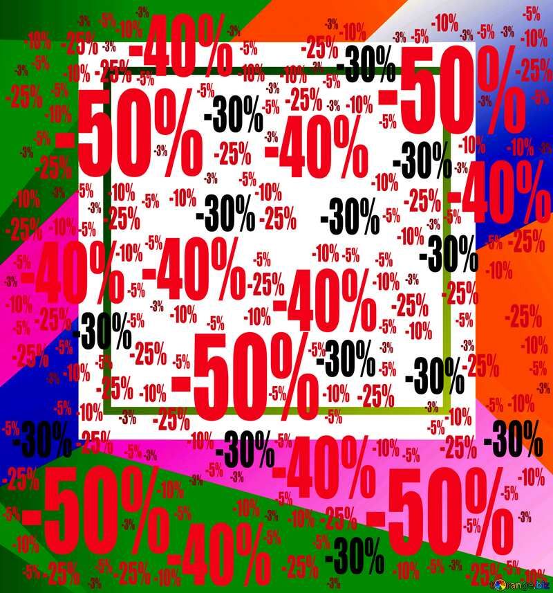 Colorful illustration template frame Sale offer discount template №49675