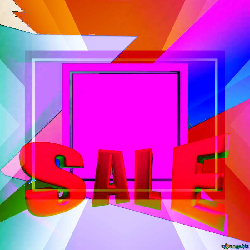 Geometrical Future Trend template frame design Sales promotion 3d letters sale background №49675