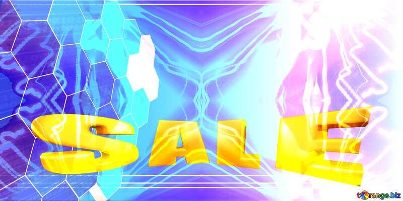 it business information technology concept background Sales promotion 3d Gold letters sale background №49674