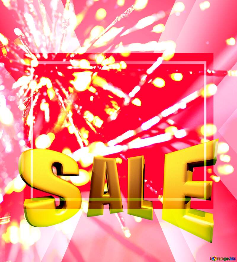 Sales promotion 3d Gold letters sale background Beautiful Template Christmas №47875