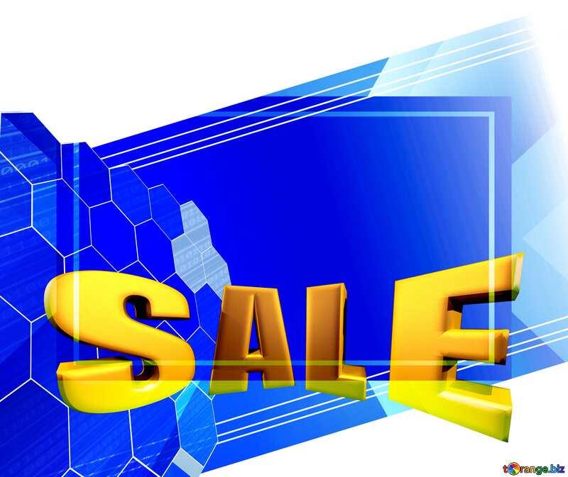 Sales promotion 3d Gold letters sale background Design Technology Template №49674