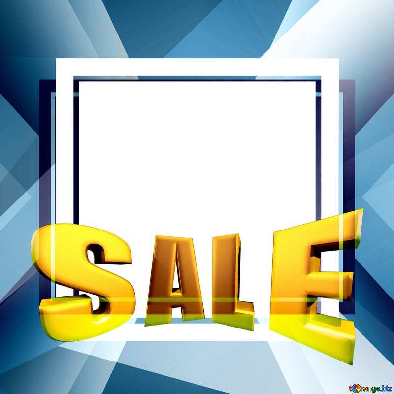 Sales promotion 3d Gold letters sale background Illustration Template №49675