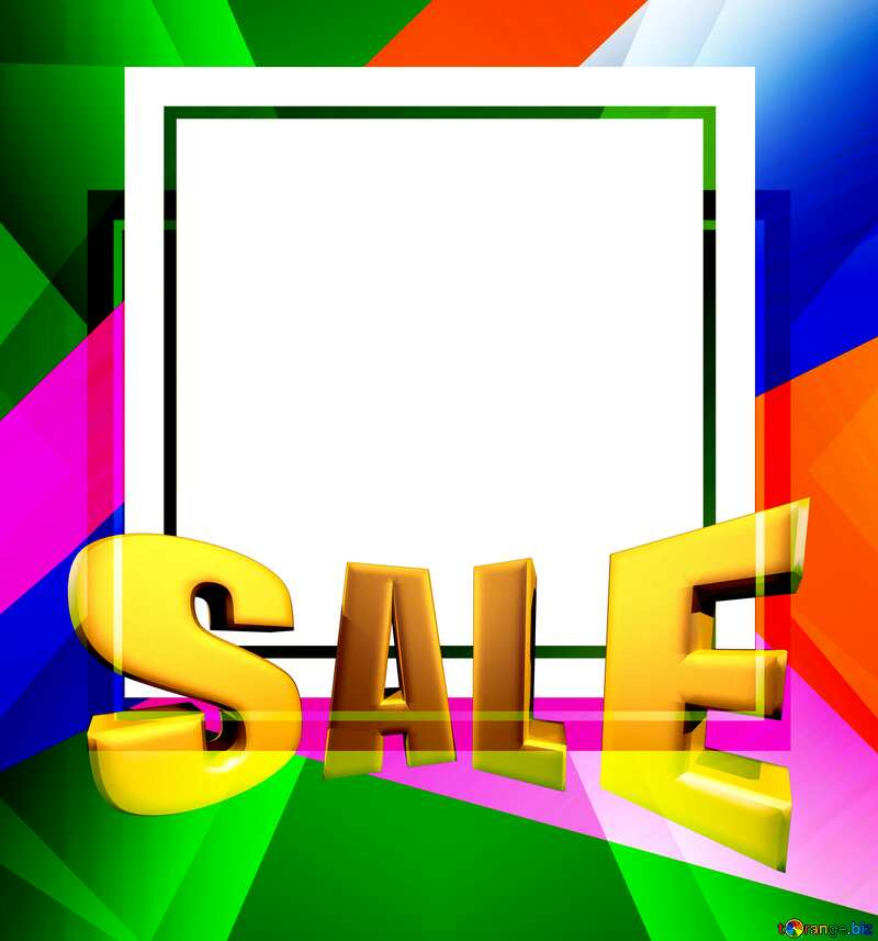 Sales promotion 3d Gold letters sale background Layout Design Frame №49675