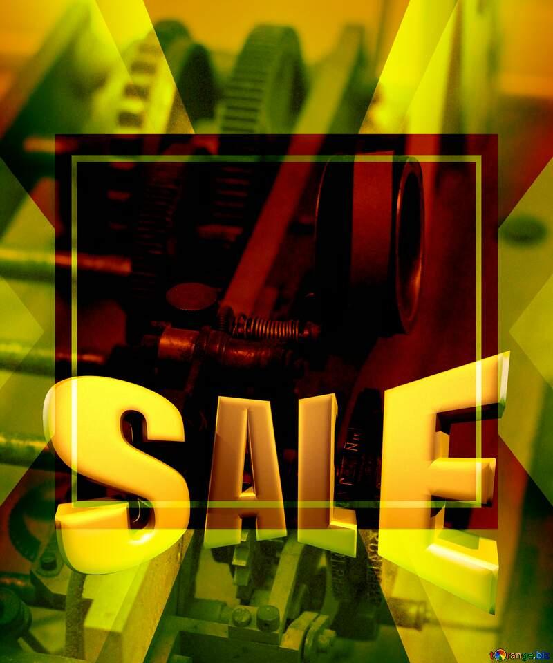 Sales promotion 3d Gold letters sale background Mechanic Template №44264