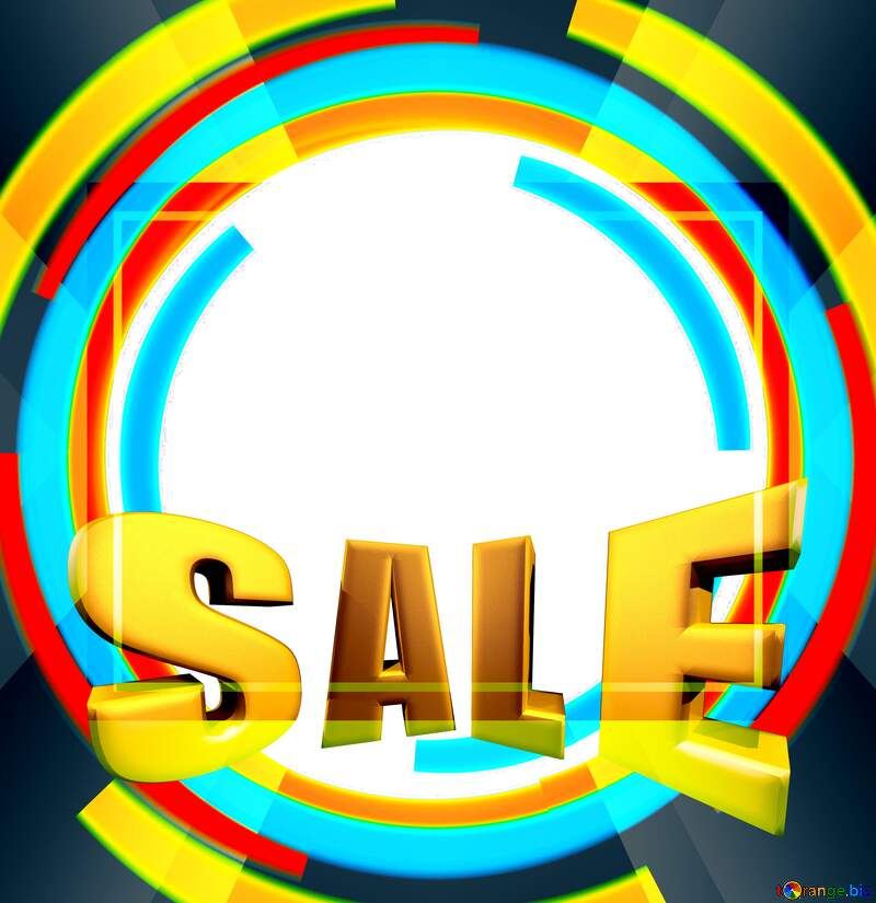 Sales promotion 3d Gold letters sale background Responsive Design Template №49680