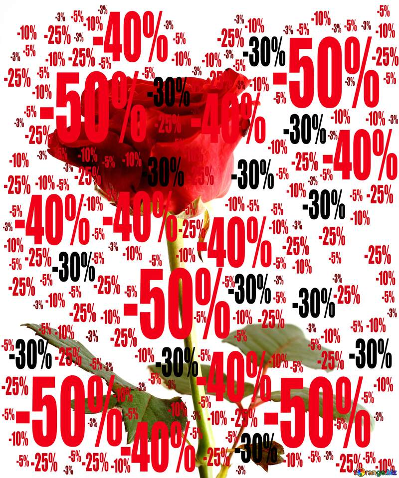 Sale offer discount template Background Rose №17057