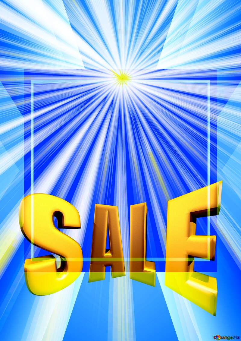 Rays of sunlight Sales promotion 3d Gold letters sale background Banner Design Template №49660