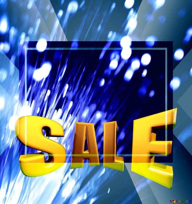 Optical fiber lights Sales promotion 3d Gold letters sale background Design Frame Template №41330