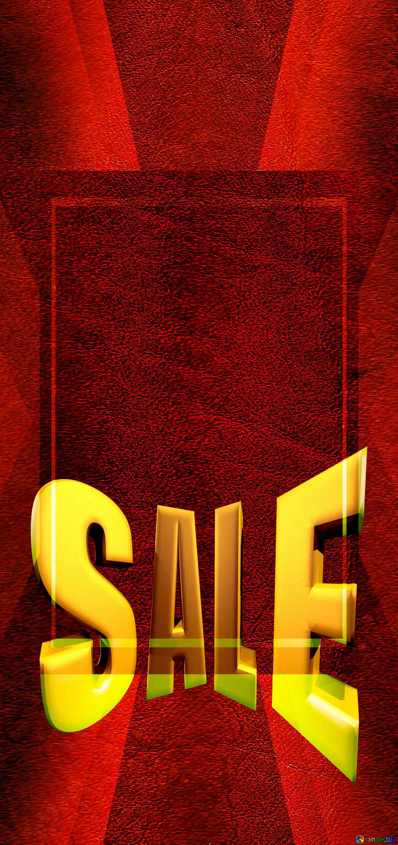 Old leather texture Sales promotion 3d Gold letters sale background Red Template Design Frame №46552