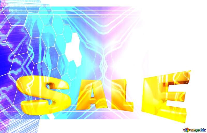 Sales promotion 3d Gold letters sale background Technology Template №49674