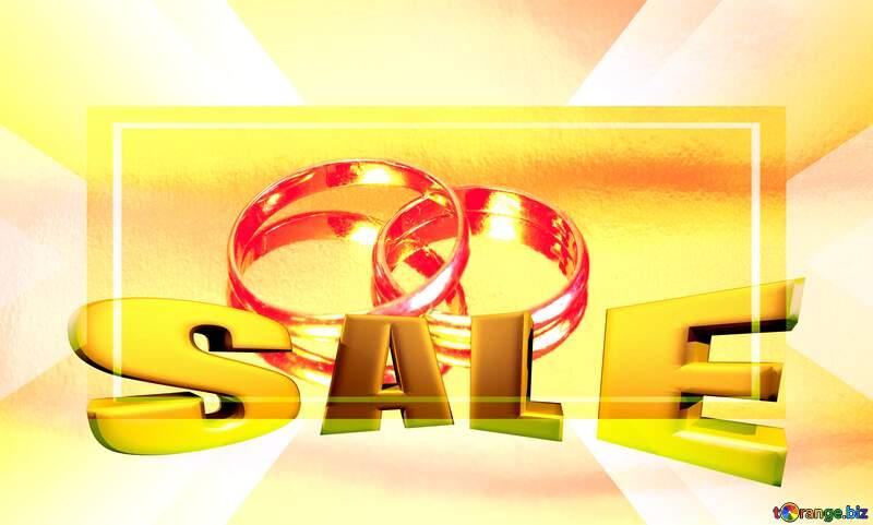 Wedding sale  promotion frame  Sales background template №7143