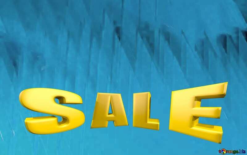 Sales promotion 3d Gold letters sale background Blue Futuristic Geometric Technology №51526