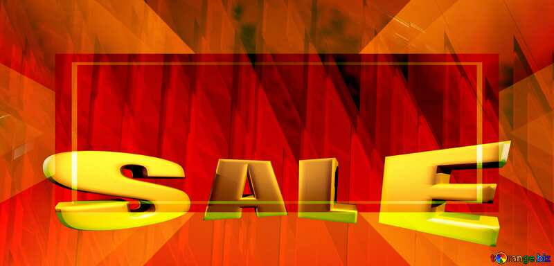 Sales promotion 3d Gold letters sale background Banner Business Design Futuristic Red Shape Frame №51526