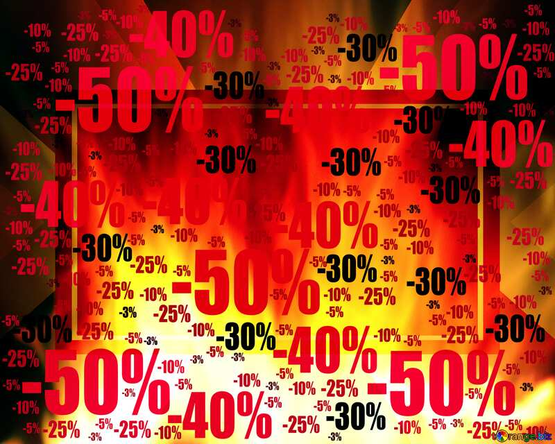 Sale offer discount template Background Design Fire №9546
