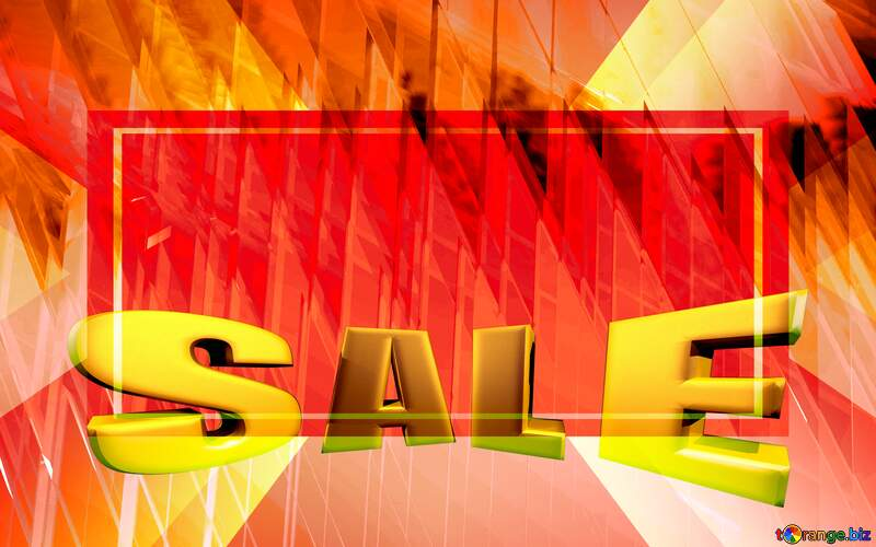 Sales promotion 3d Gold letters sale background Design Geometric Layout Template №51526