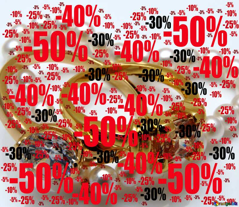 Jewelry as gift Sale offer discount template Background №18274
