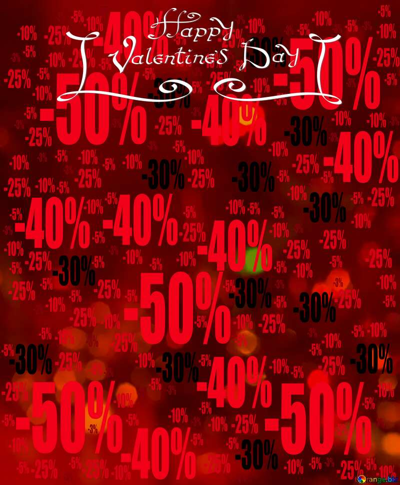 Valentines background Sale offer discount template №15110