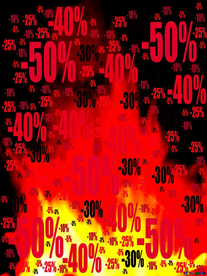 Background. Fire Wall. Sale offer discount template №9546